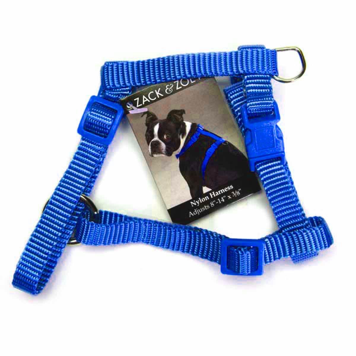 Nylon Dog Harness by Zack & Zoey - Nautical Blue