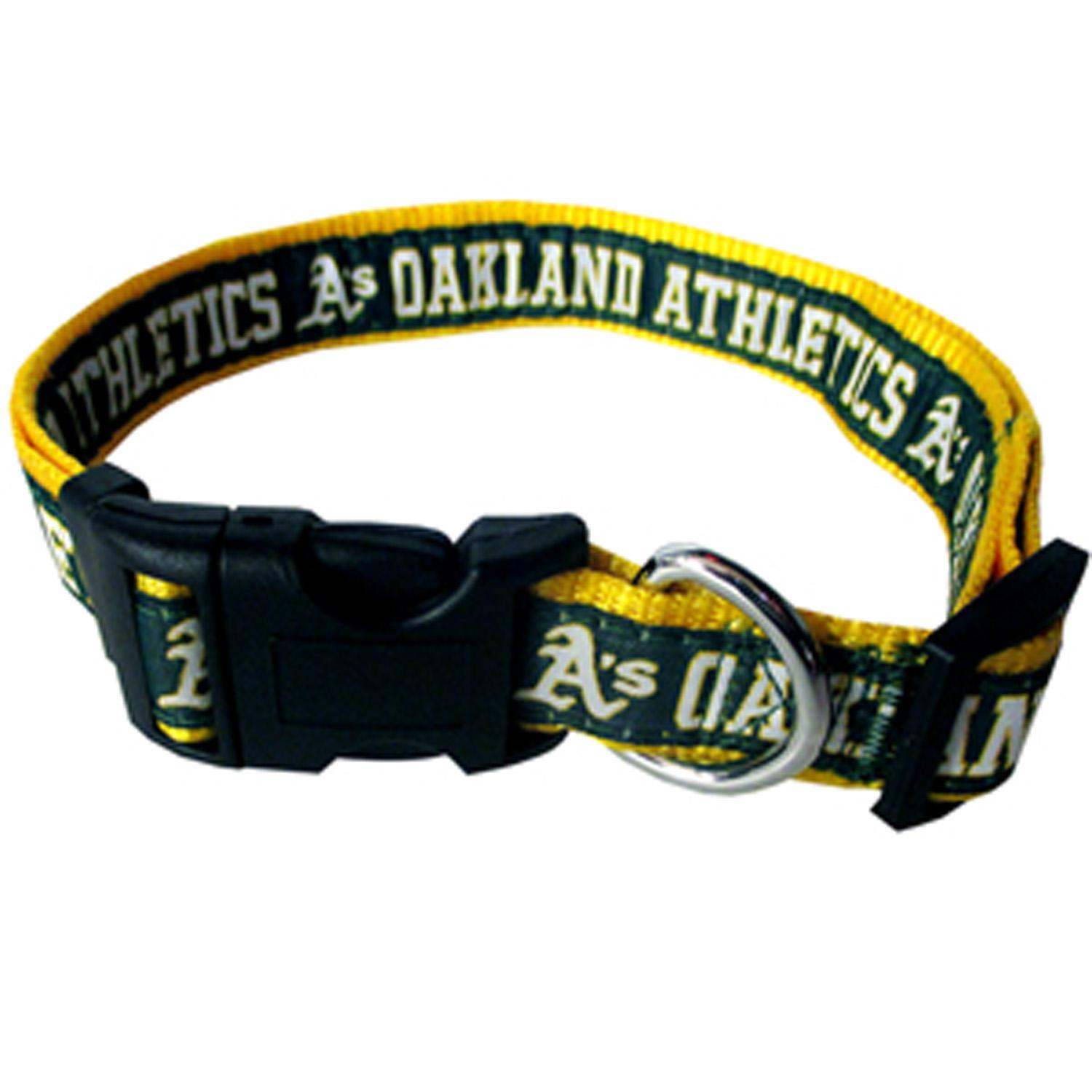 Oakland Athletics Officially Licensed Ribbon Dog Collar