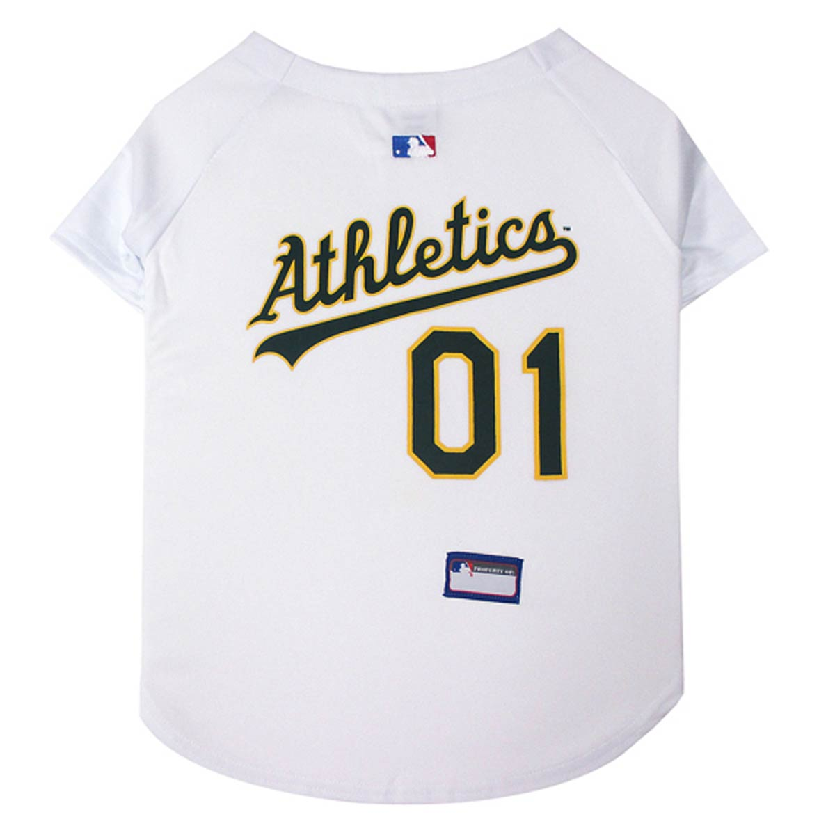 competitive price ceb97 c36e6 Oakland Athletics Officially Licensed Dog Jersey - White