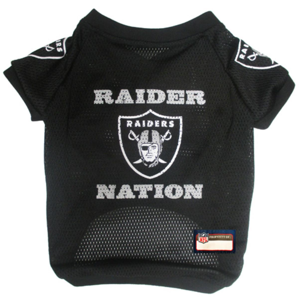 Oakland Raiders Slogan Dog Jersey - Raider Nation