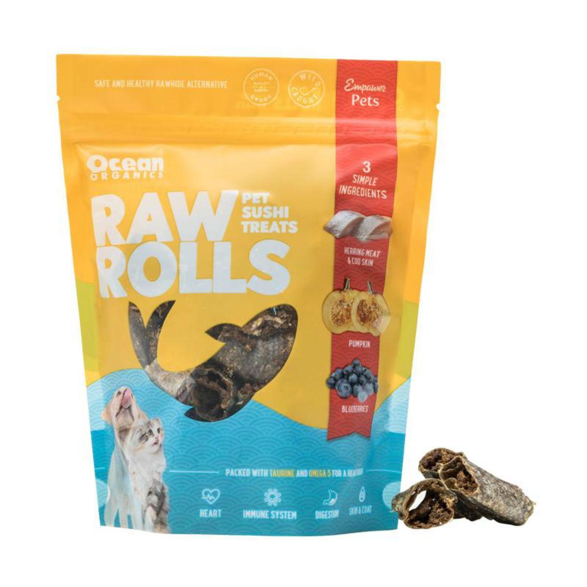 Ocean Organics Raw Rolls Sushi Pet Treats