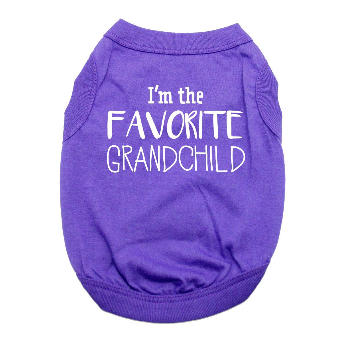 Favorite Grandchild Dog Shirt - Purple