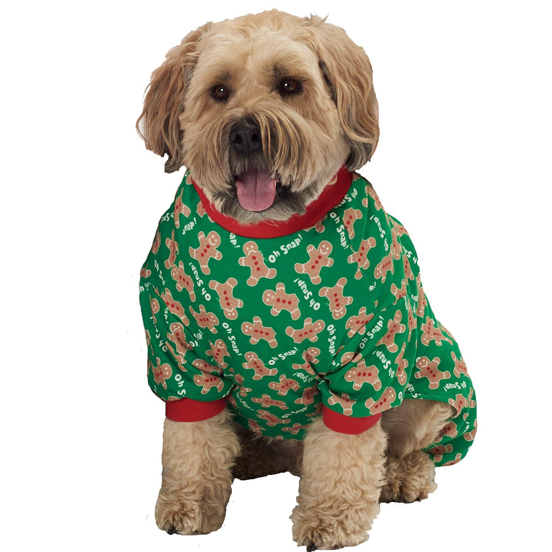 Oh Snap! Gingerbread Dog Pajamas - Green