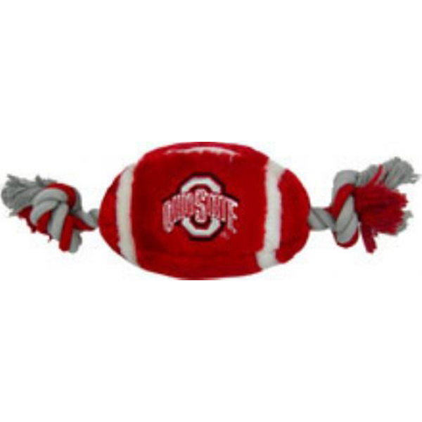 Ohio State Buckeyes Plush Football Dog Toy
