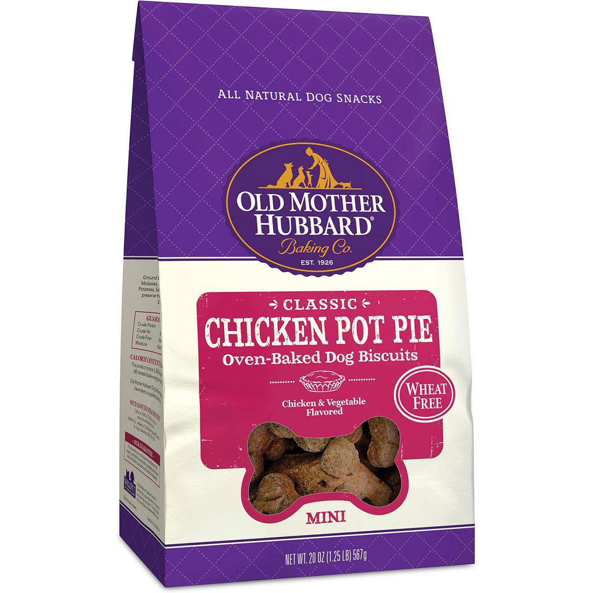 Old Mother Hubbard Classic Mini Chicken Pot Pie Biscuits Baked Dog Treats