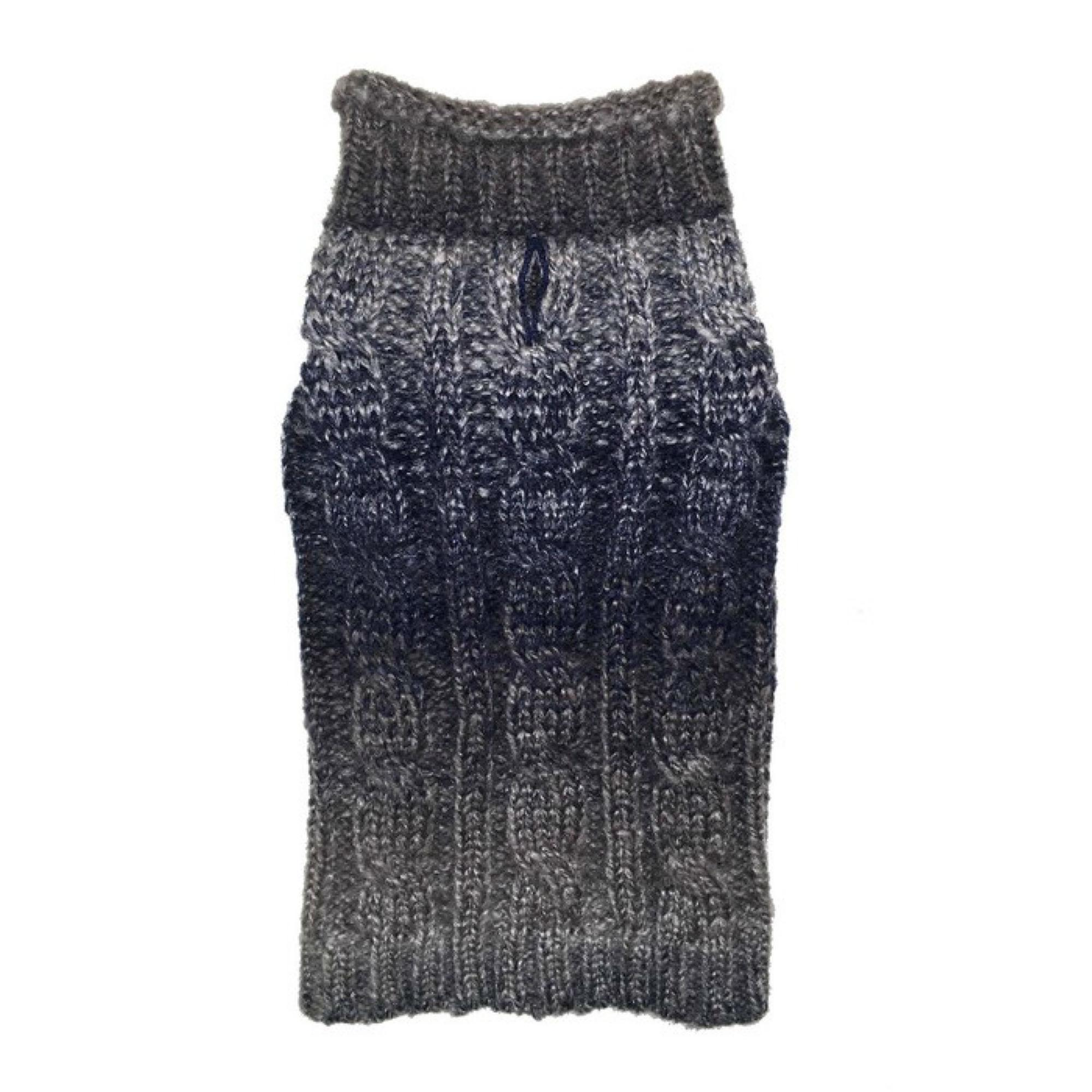 fabdog® Ombre Rollneck Dog Sweater - Blue