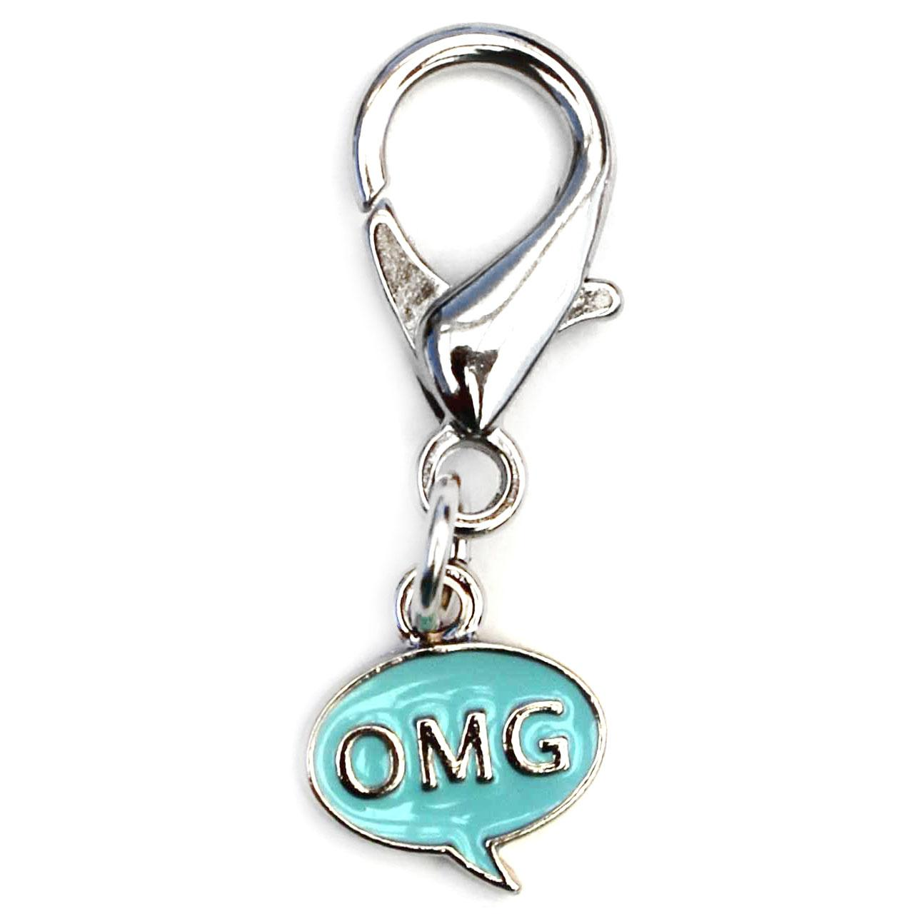 OMG! Dog Collar Charm - Blue