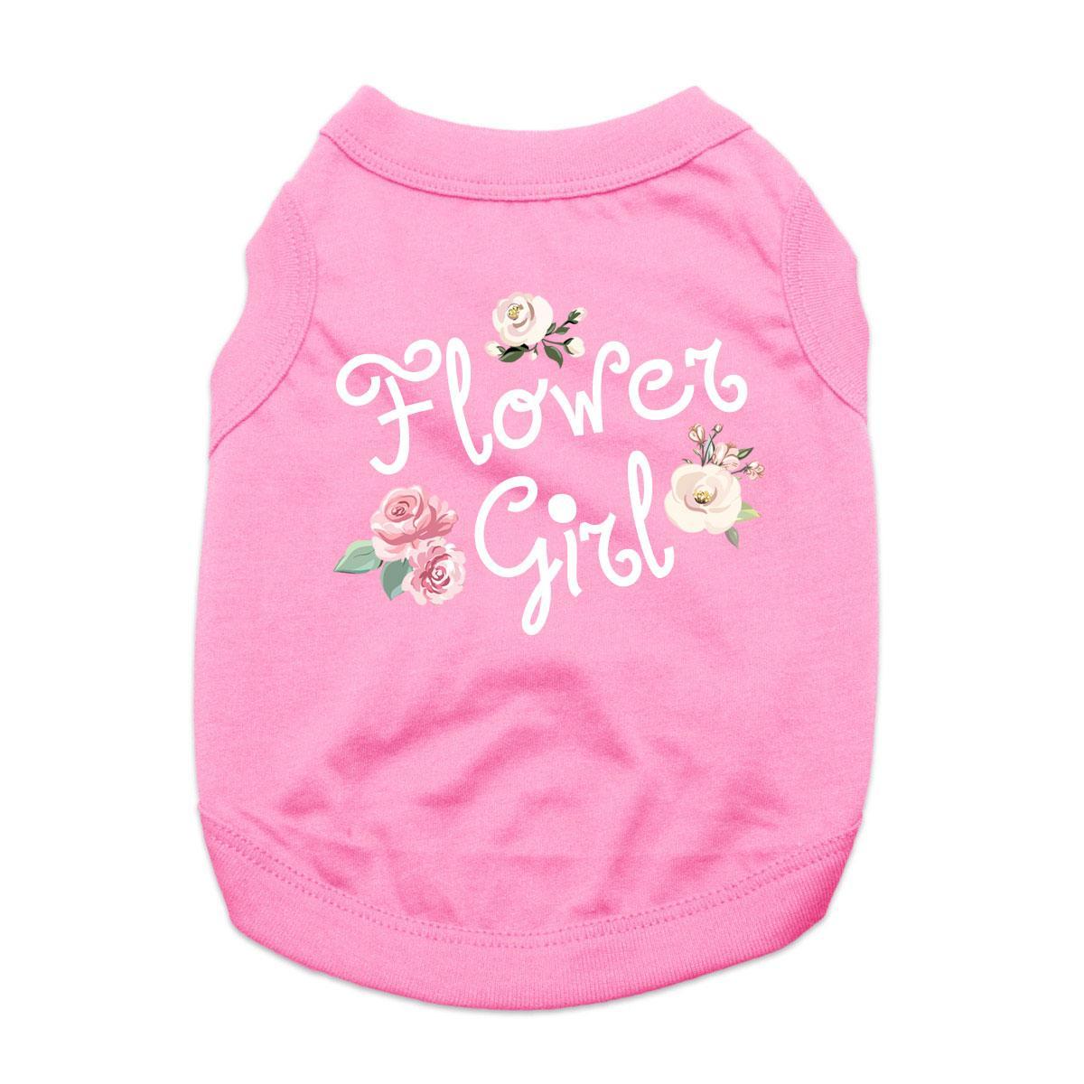 Flower Girl Dog Shirt - Light Pink