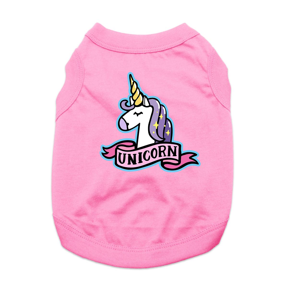 Unicorn Dog Shirt - Pink