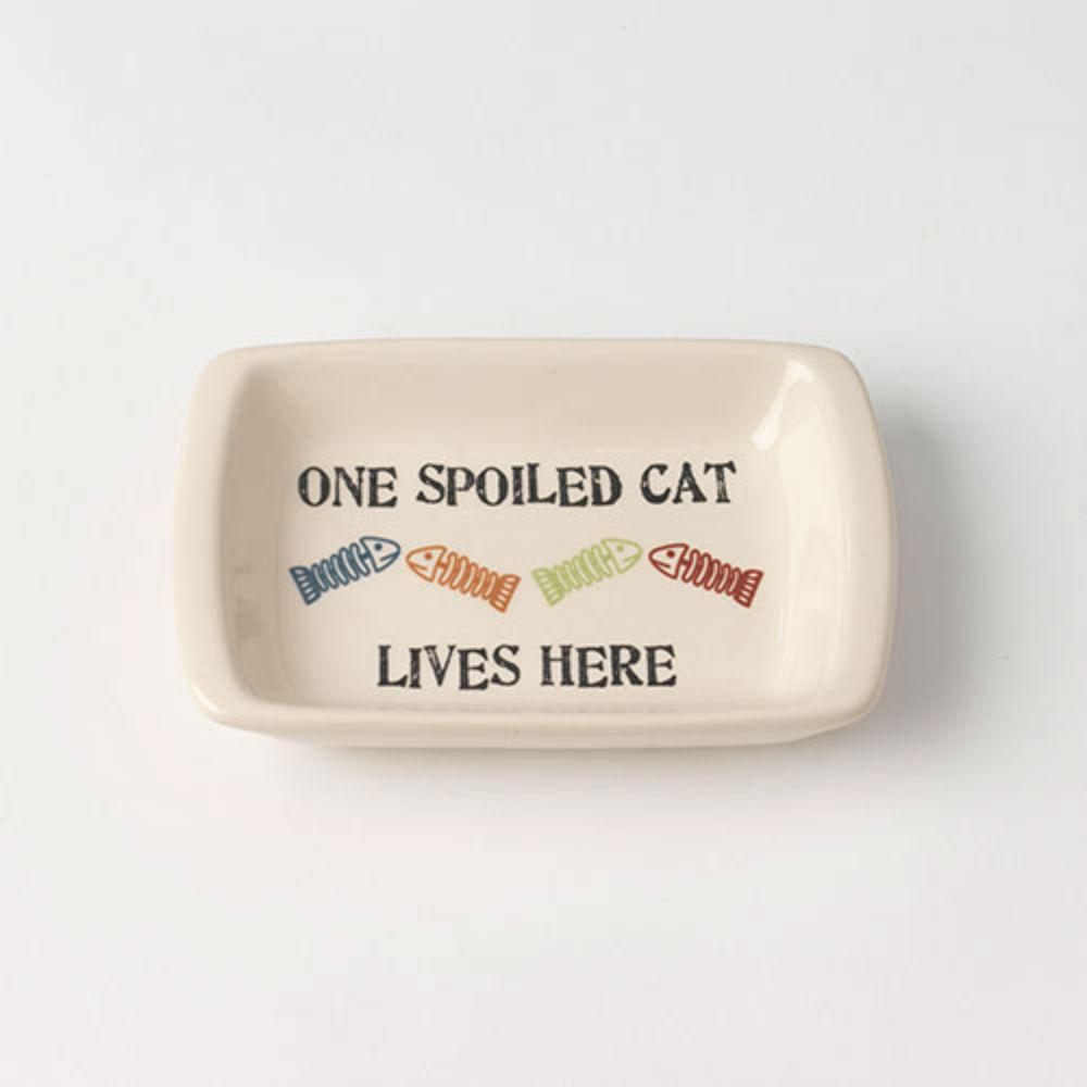 One Spoiled Cat Pet Food Saucer