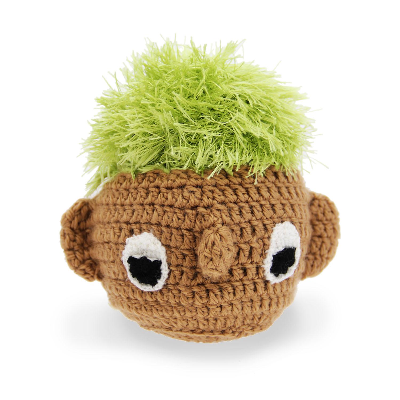 OoMaLoo Handmade Turf Head Dog Toy