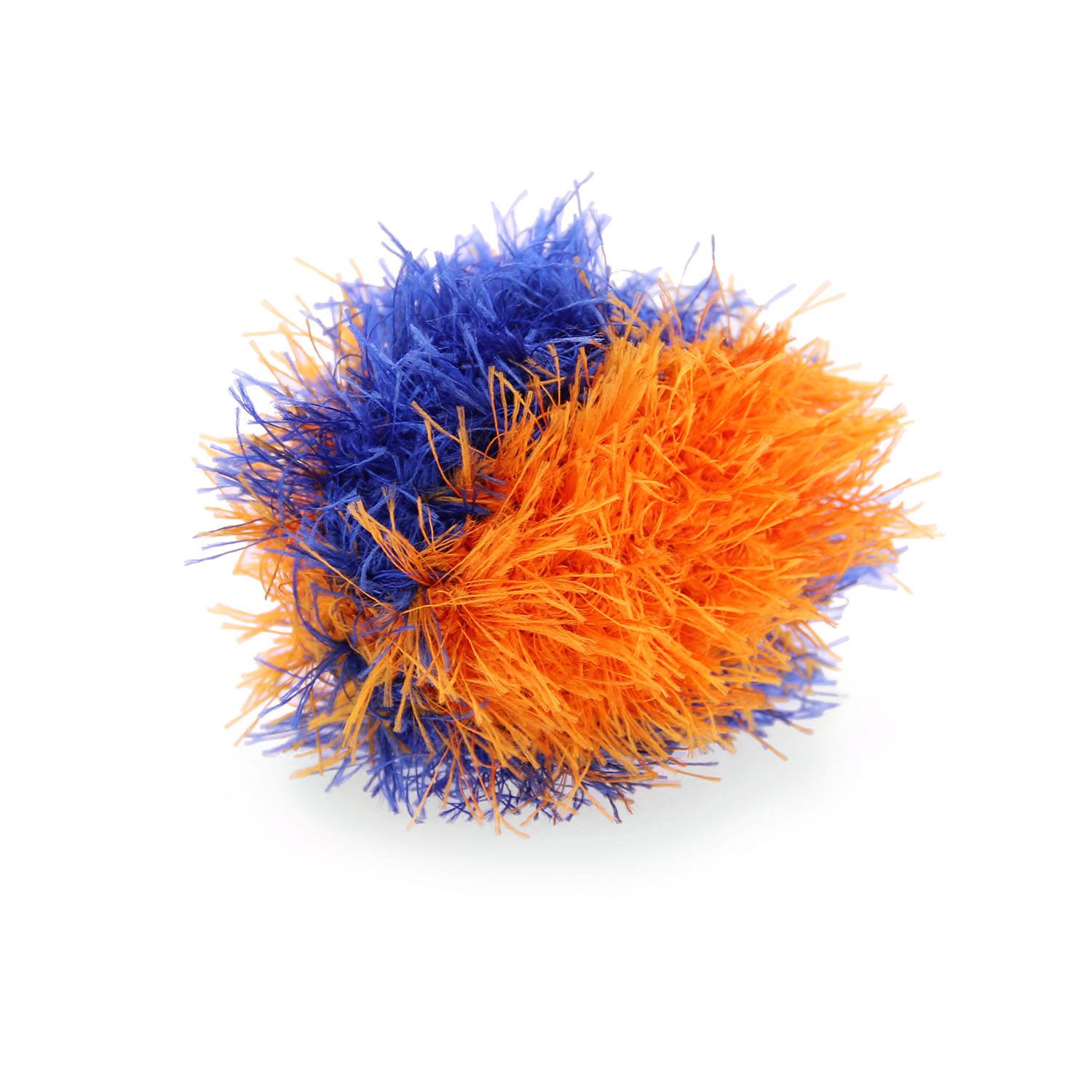 OoMaLoo Handmade Ball Dog Toy - Blue and Orange
