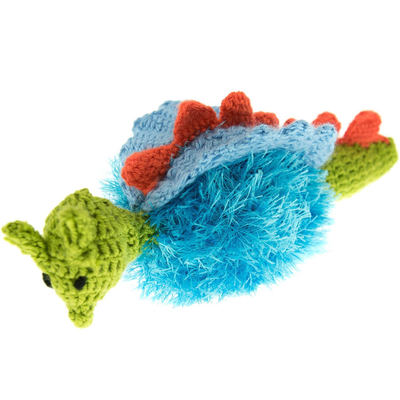 OoMaLoo Handmade Dragon Dog Toy - Blue