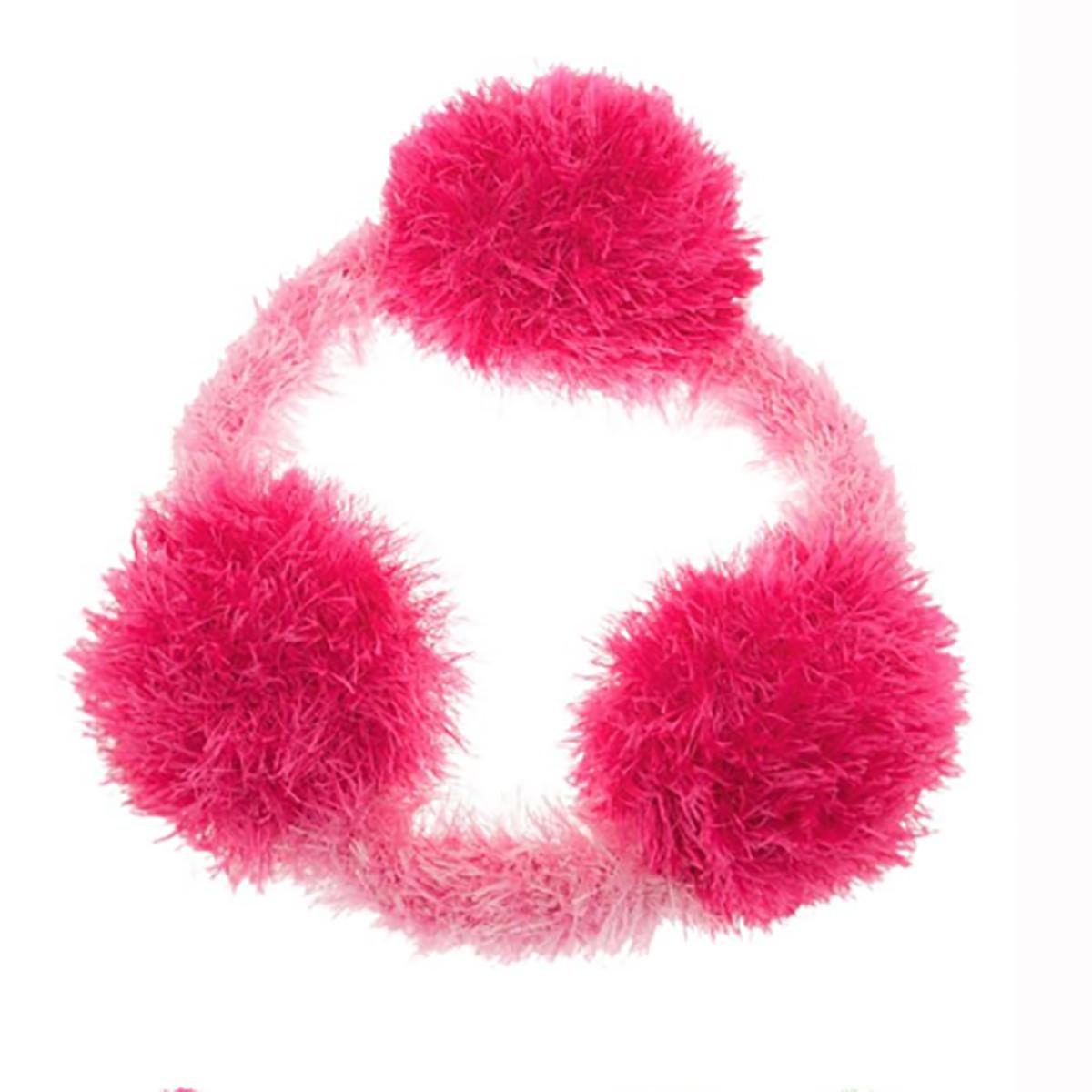 OoMaLoo Handmade Pull Ring Dog Toy - Pink with Light Pink Ring