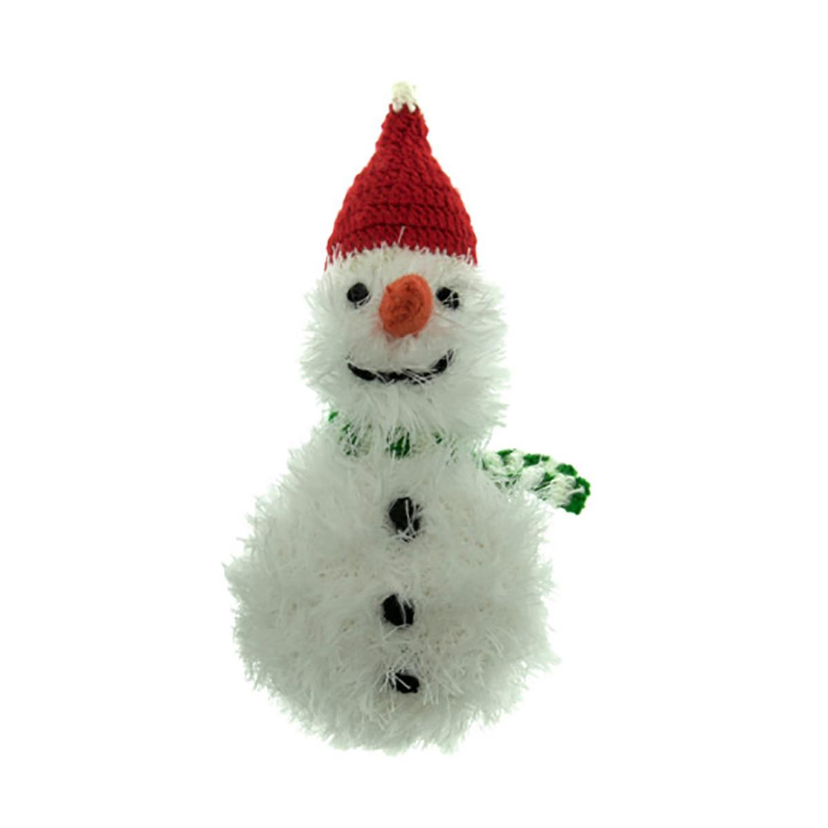 OoMaLoo Handmade Snowman Dog Toy