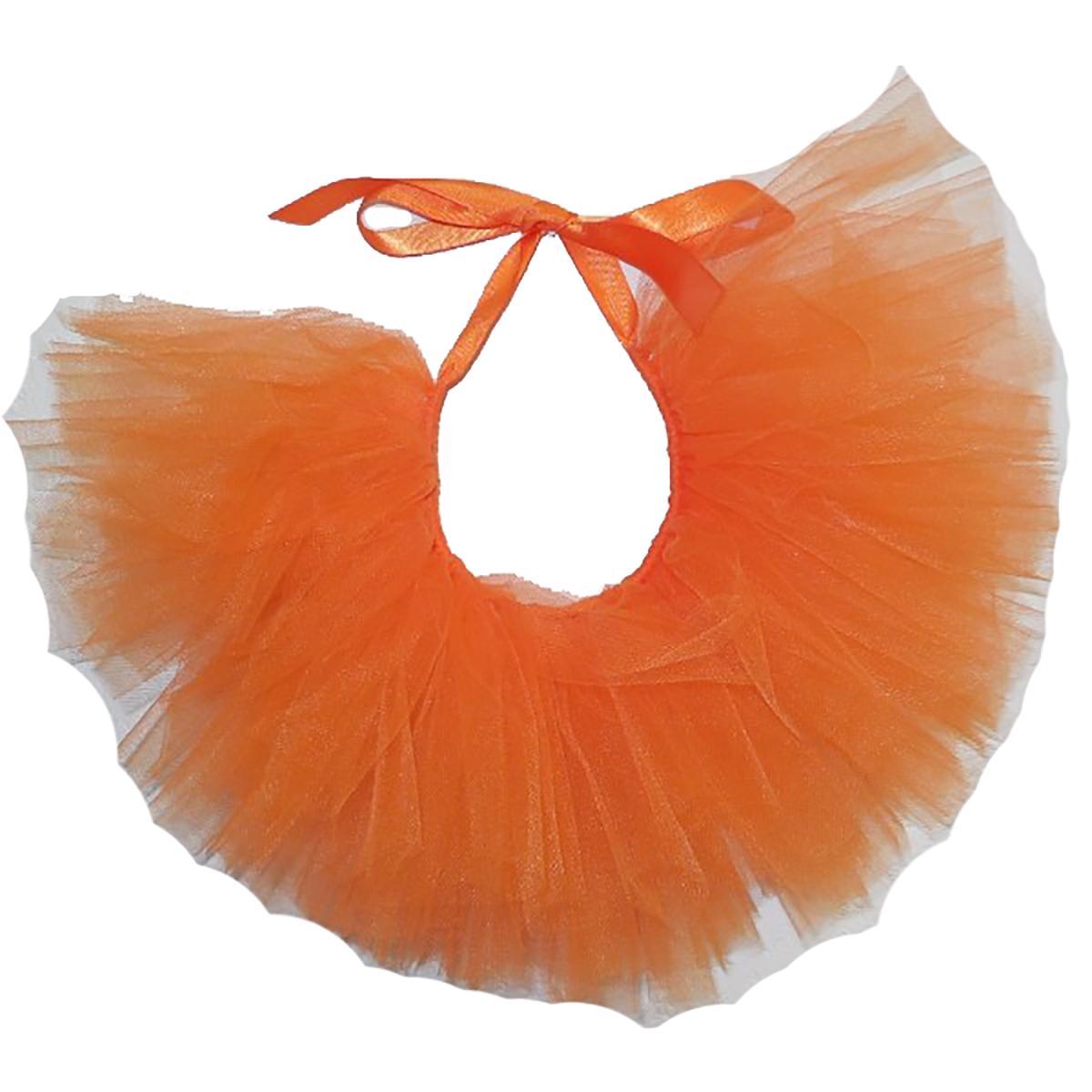 Orange Tulle Dog Tutu by Pawpatu