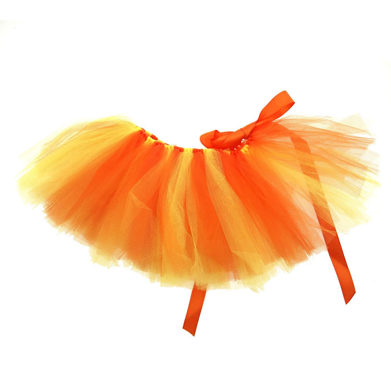 Orange/Yellow Tulle Dog Tutu by Pawpatu