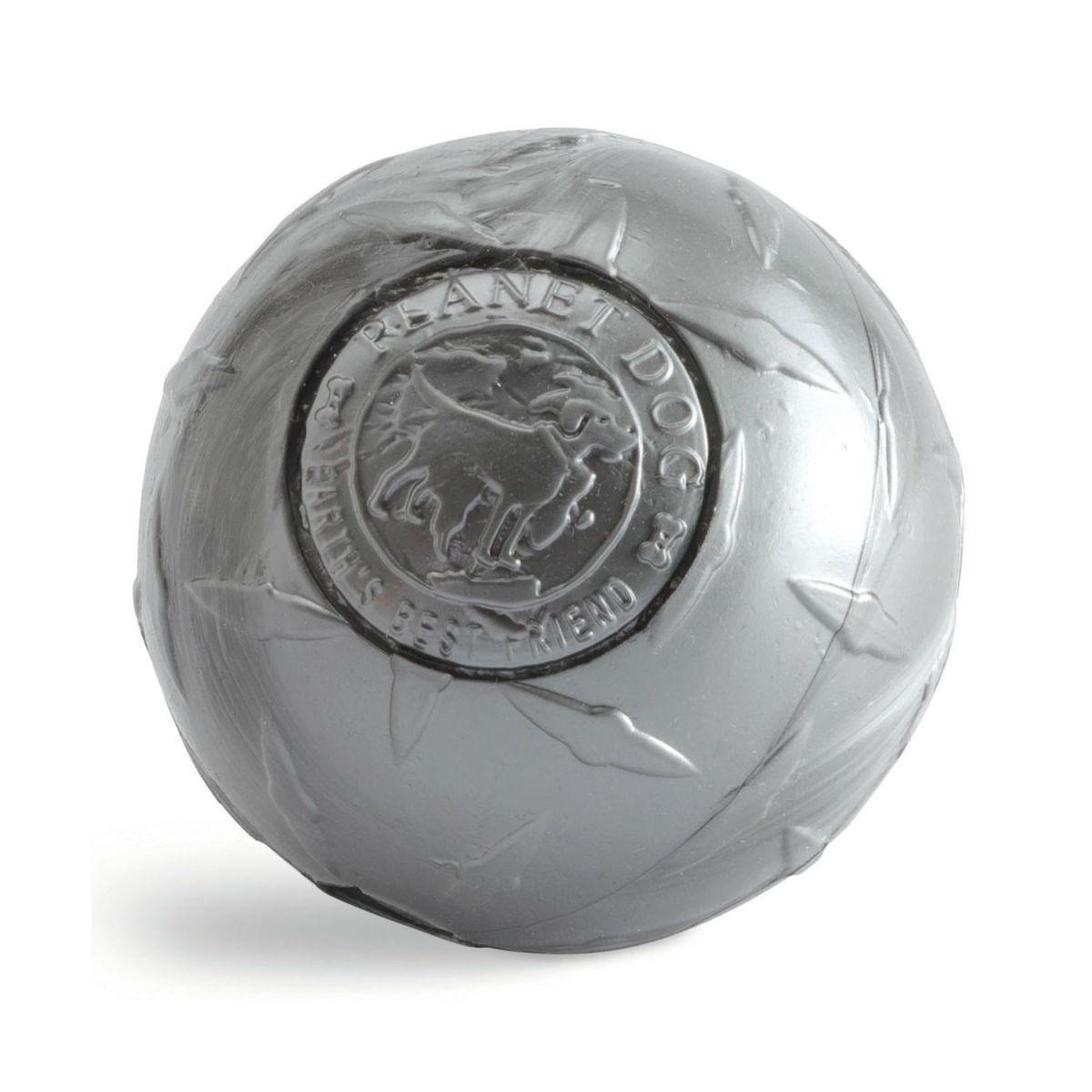 Planet Dog Orbee-Tuff Diamond Plate Ball Dog Toy - Silver