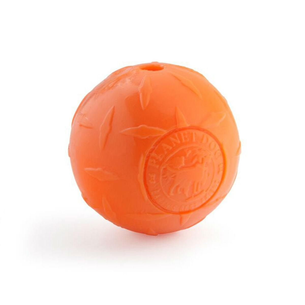 Planet Dog Orbee-Tuff Diamond Plate Ball Dog Toy - Orange