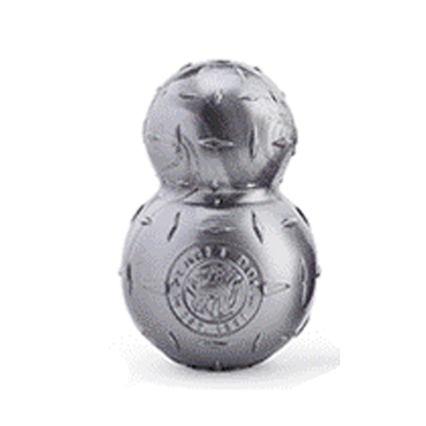 Planet Dog Orbee-Tuff Diamond Plate Double Tuff Dog Toy by Planet Dog - Silver