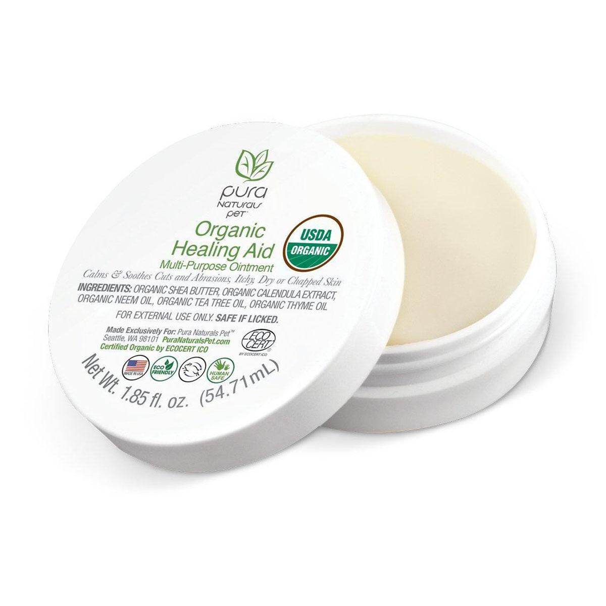 Pure and Natural Pet Organic Healing Aid Multi-Purpose Ointment for Dogs