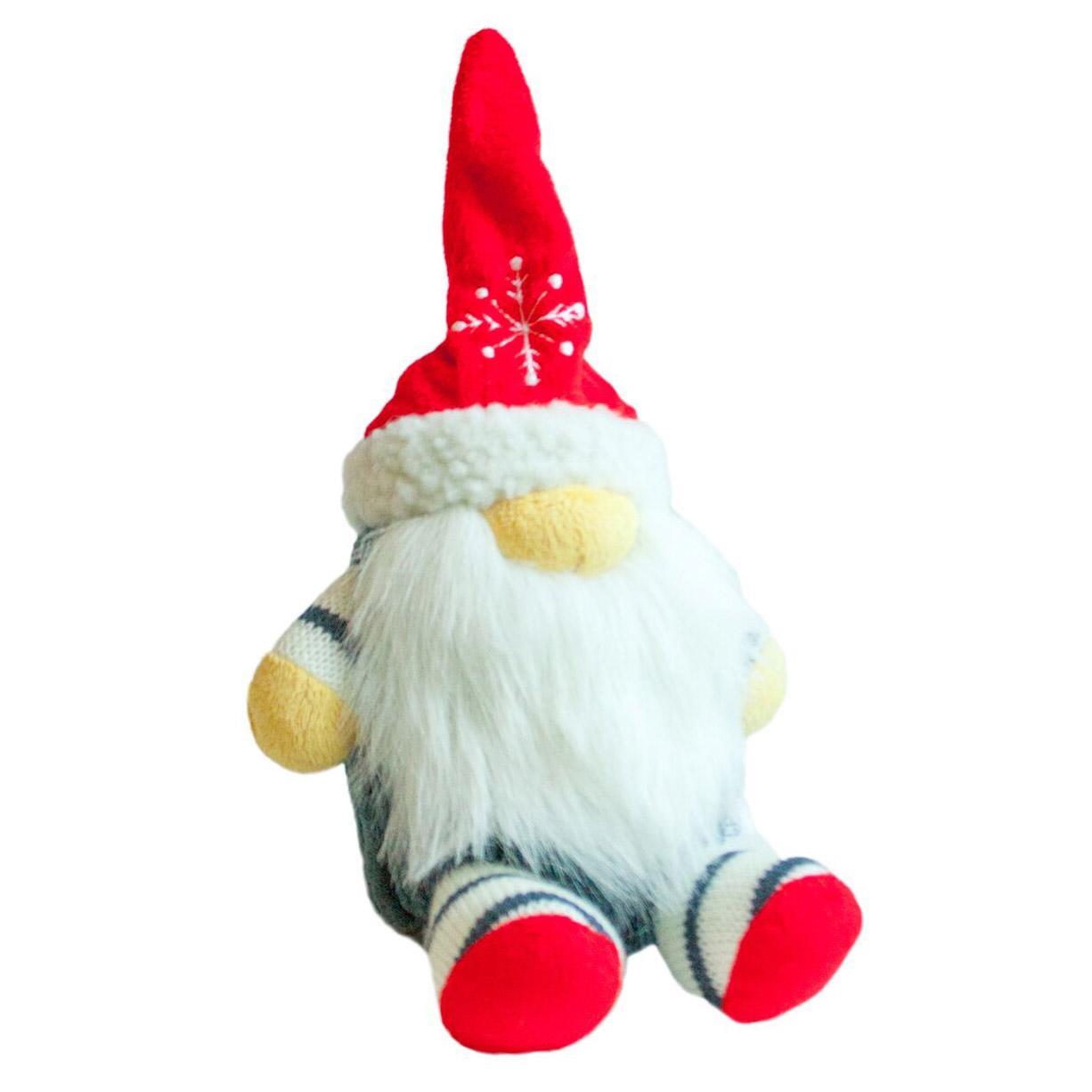 Outward Hound Holiday Fattiez Dog Toy - Gnome | BaxterBoo
