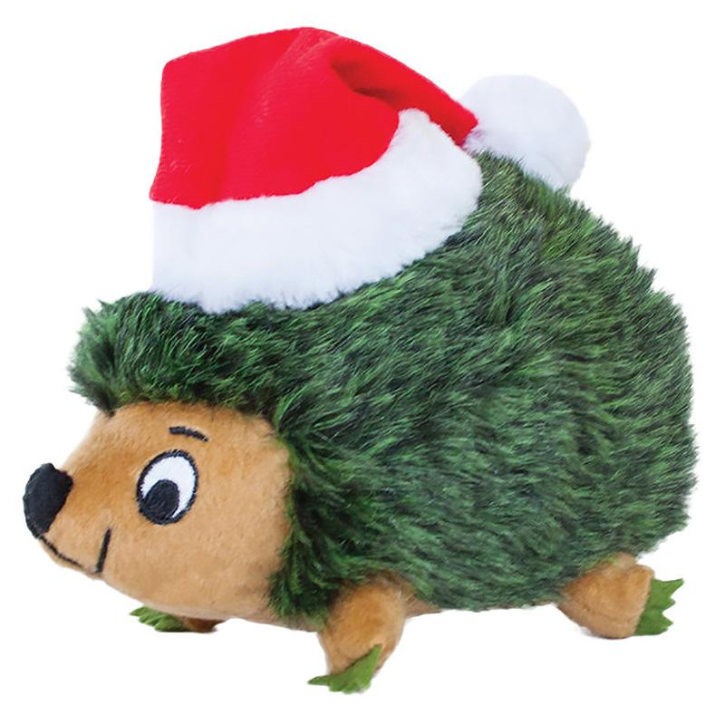 Outward Hound Holiday Hedgehog Junior Dog Toy - Green