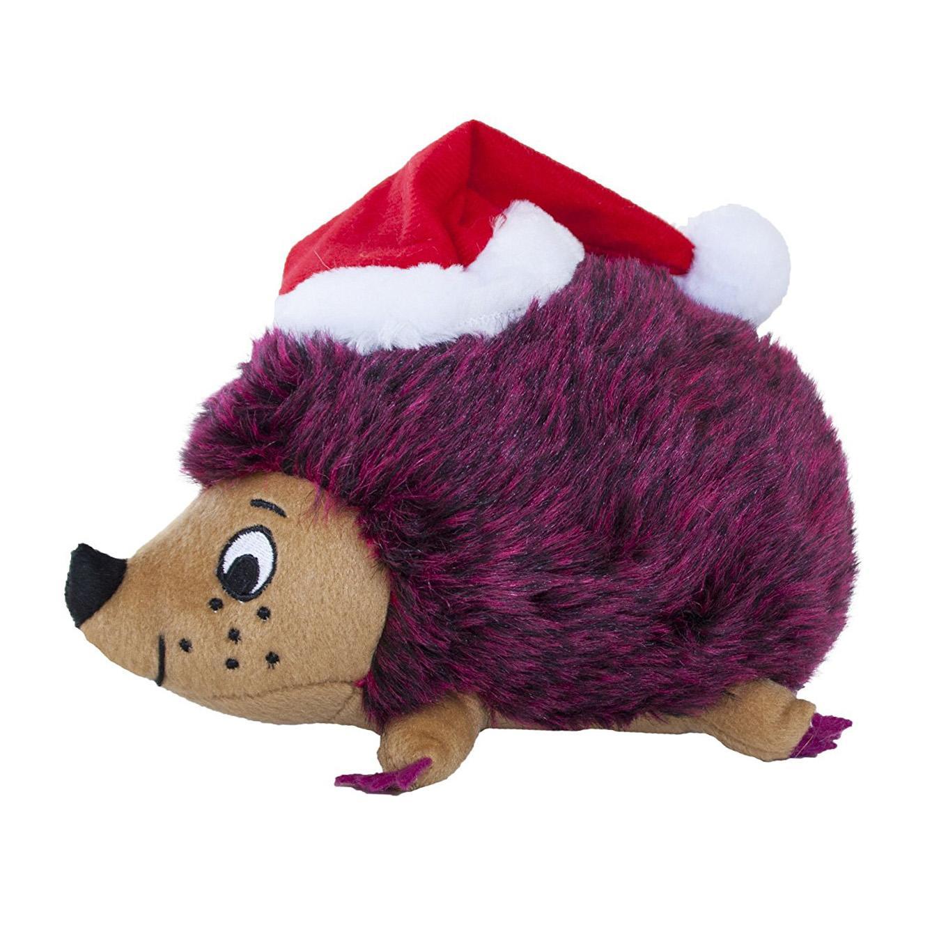 Outward Hound Holiday Hedgehog Dog Toy - Red