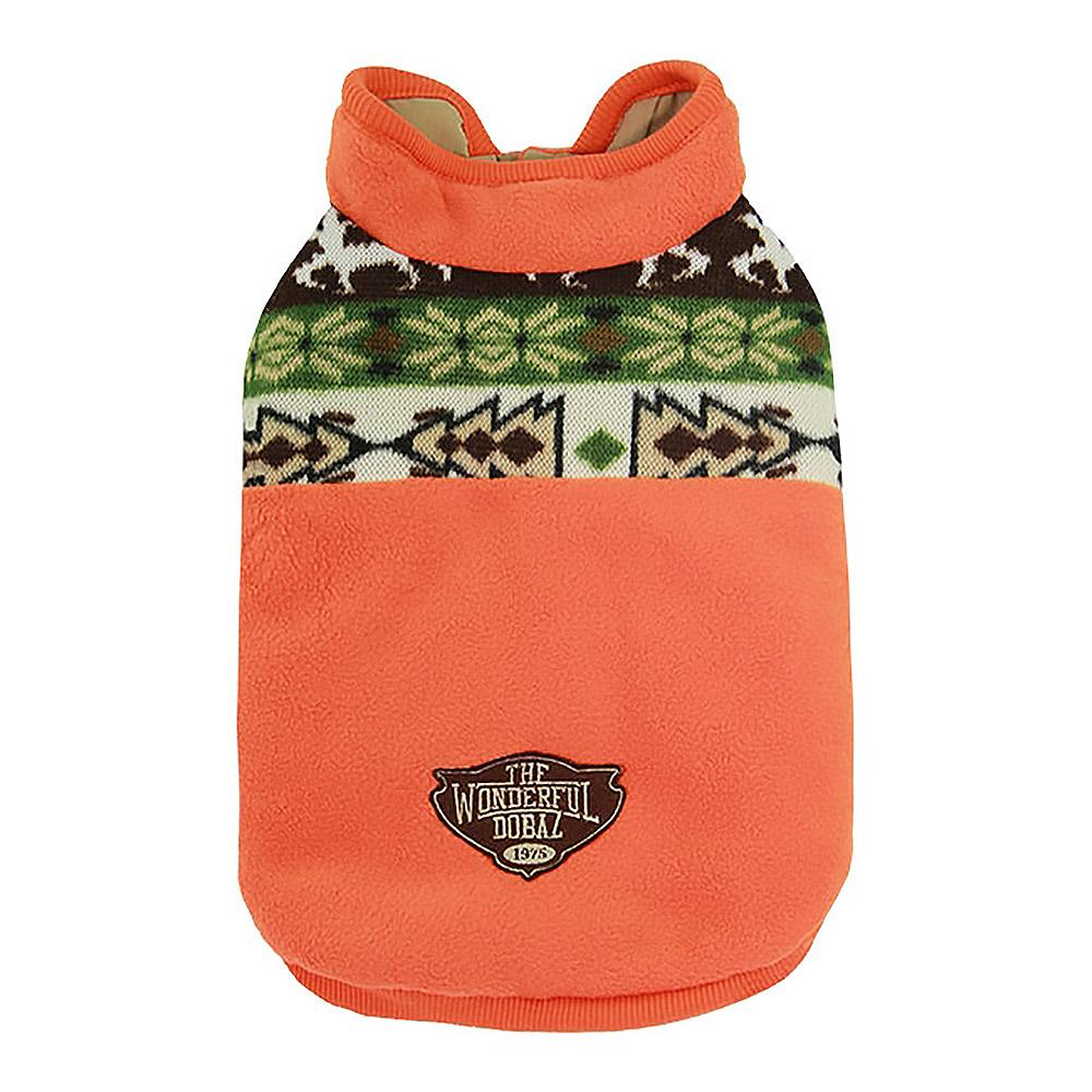 Aztec Fleece Dog Jacket by Dobaz - Orange