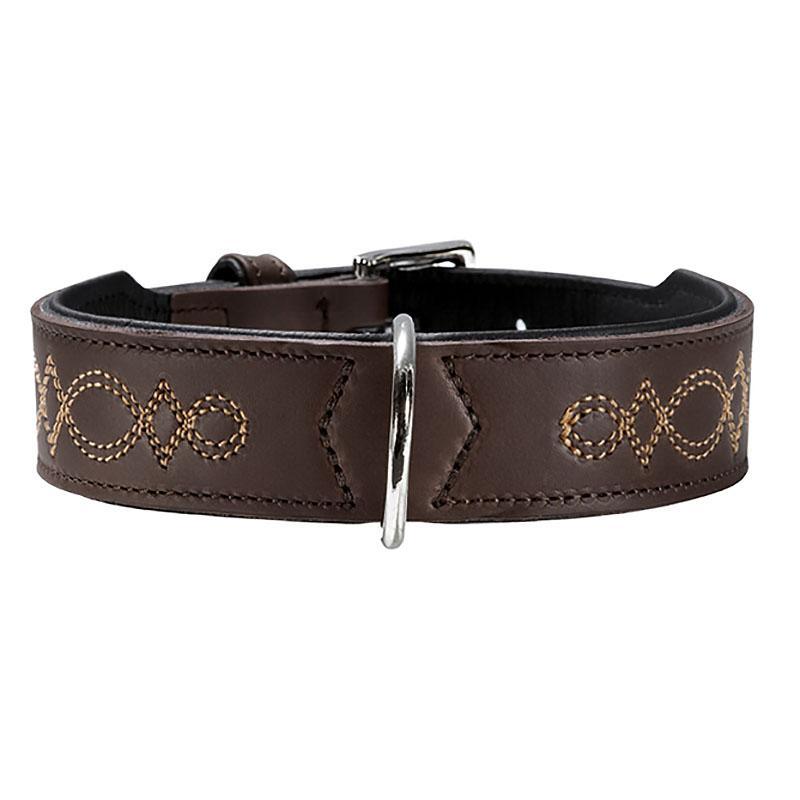 Palermo Leather Dog Collar by HUNTER - Dark Brown