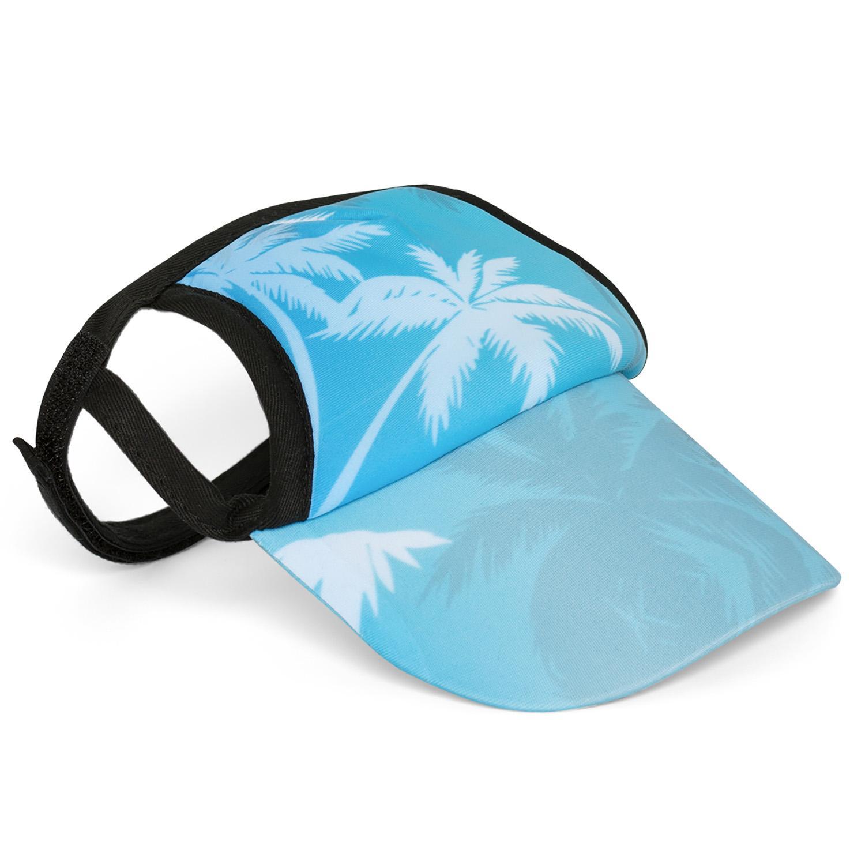 Palm Tree Blue Dog Visor by Playa Pup