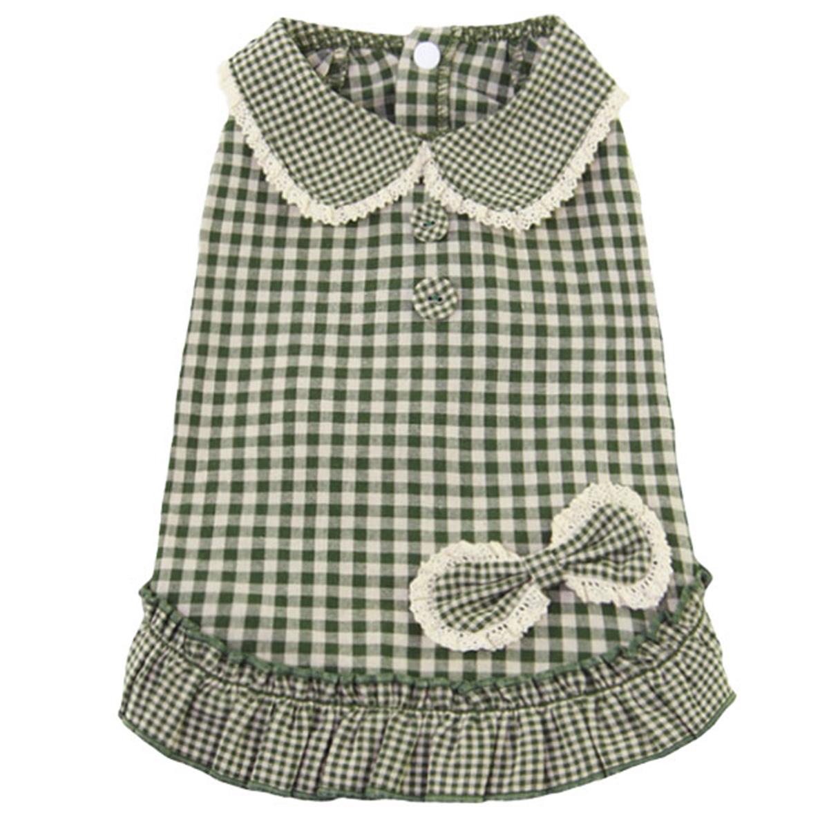 Dobaz Gingham Dog Dress - Green