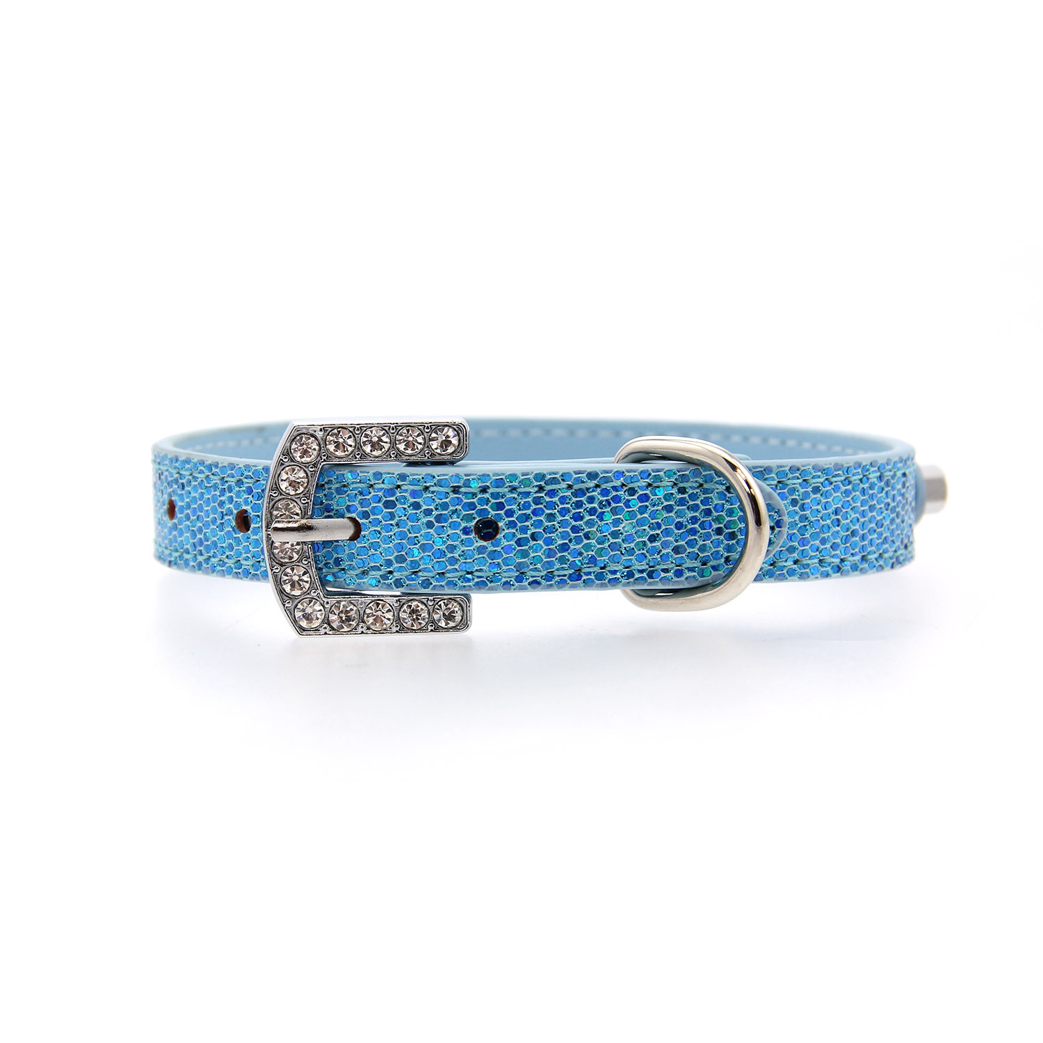 Parisian Pet Paillette Dog Collar - Blue