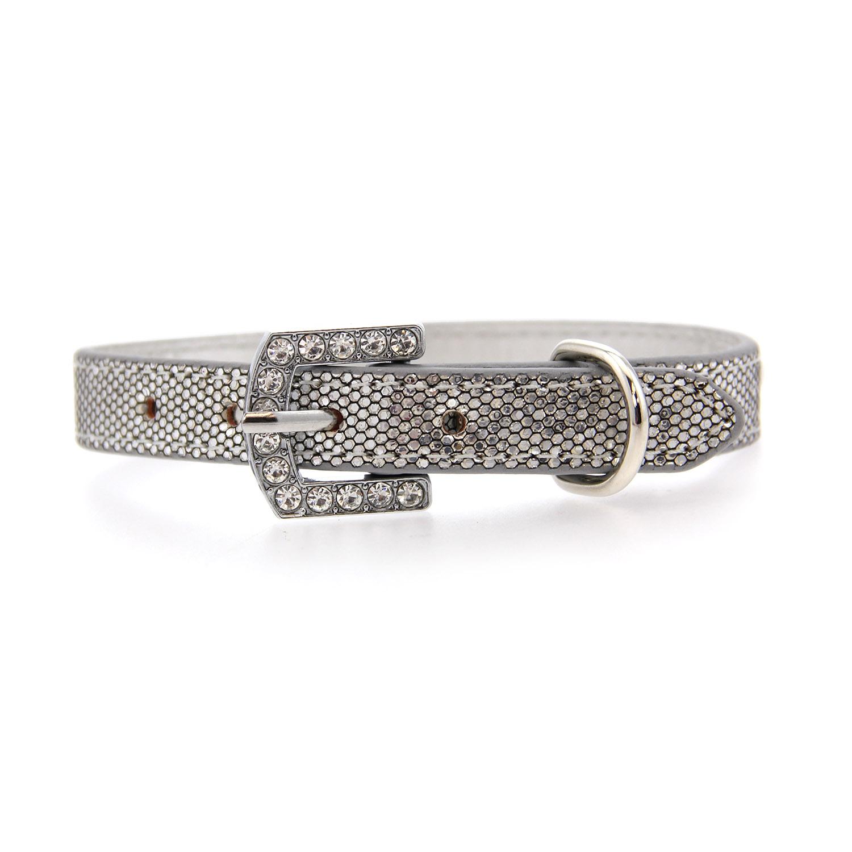 Parisian Pet Paillette Dog Collar - Silver