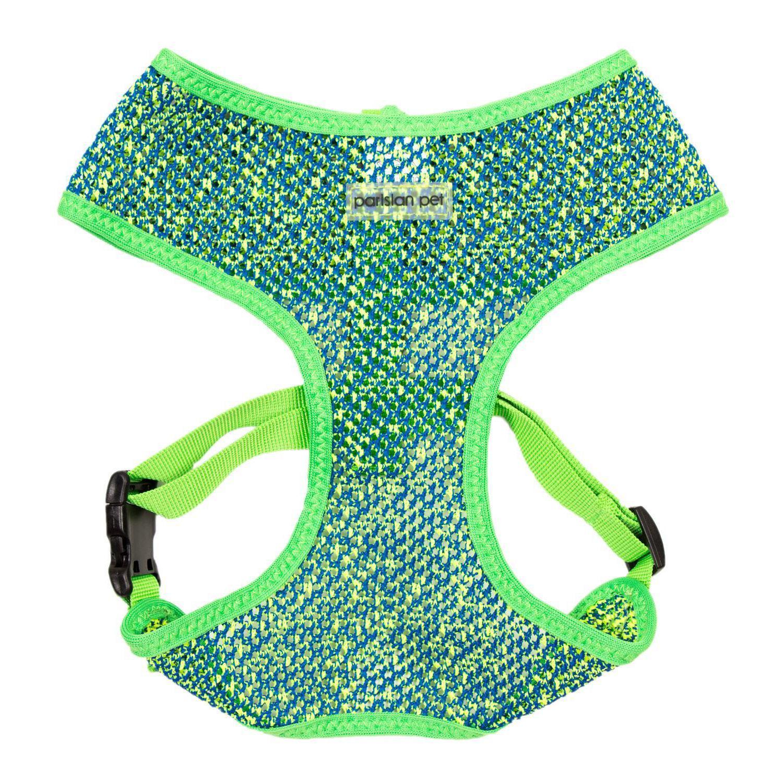 Parisian Pet Sport Net Dog Harness - Green/Blue