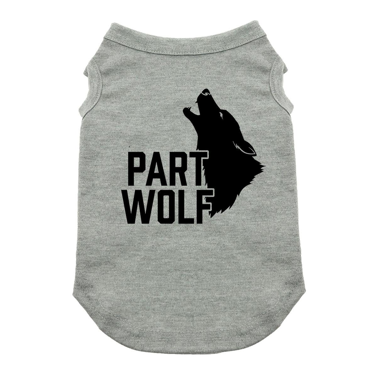 Part Wolf Dog Shirt - Gray