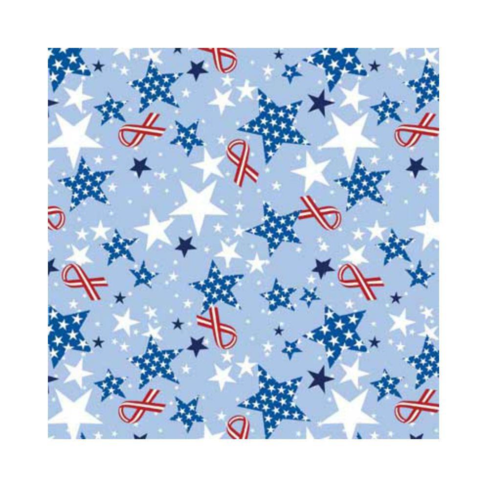 Patriotic Ribbons and Stars Dog Bandana