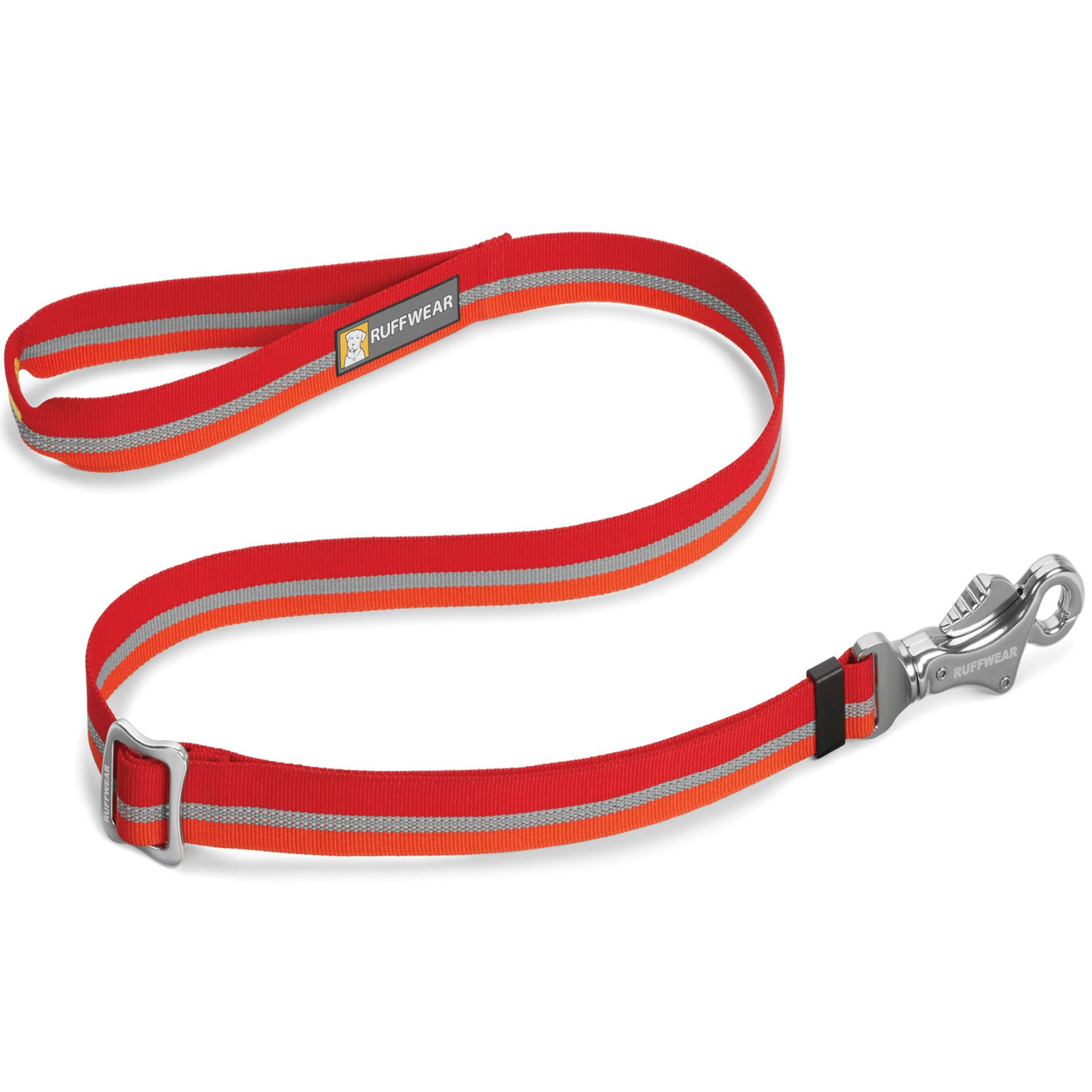 Patroller Dog Leash by Ruffwear - Kokanee Red
