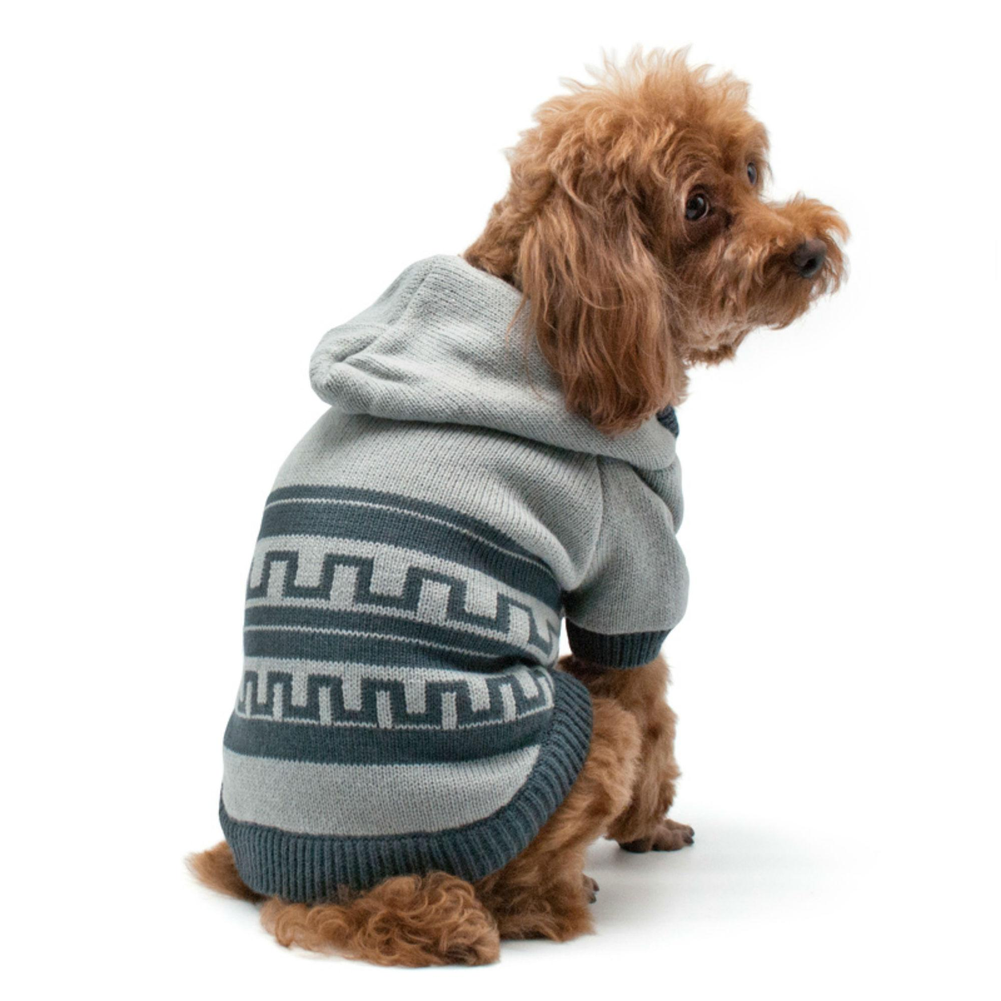 Pattern Sweater Dog Coat by Dogo - Gray