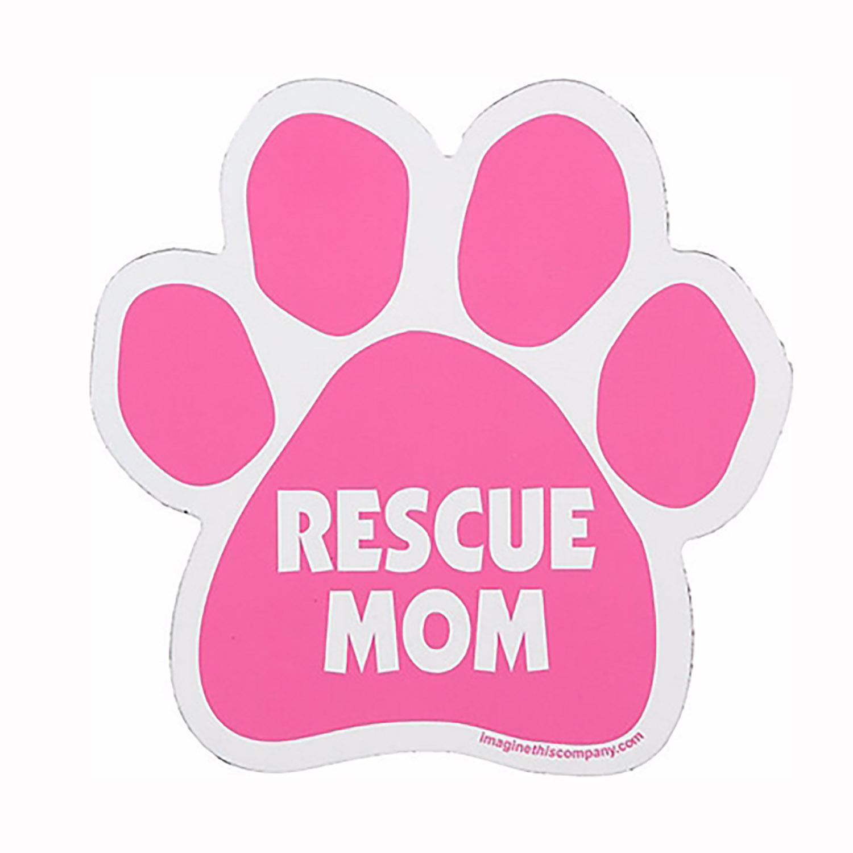 Paw Car Window Decal - Rescue Mom