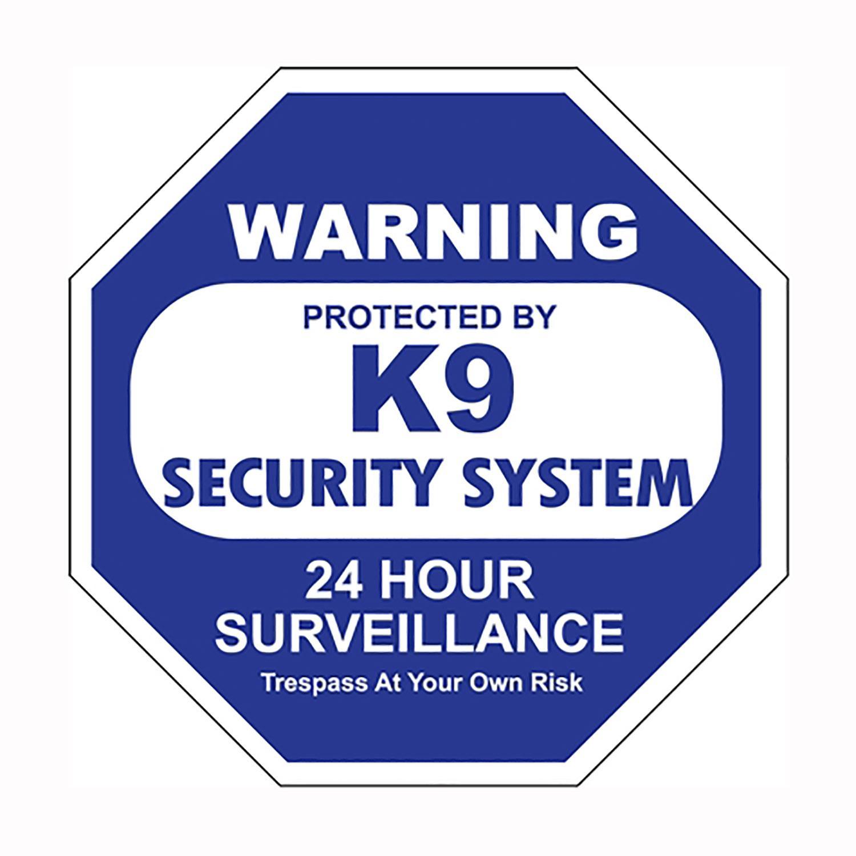 K9 Security System Car Window Decal