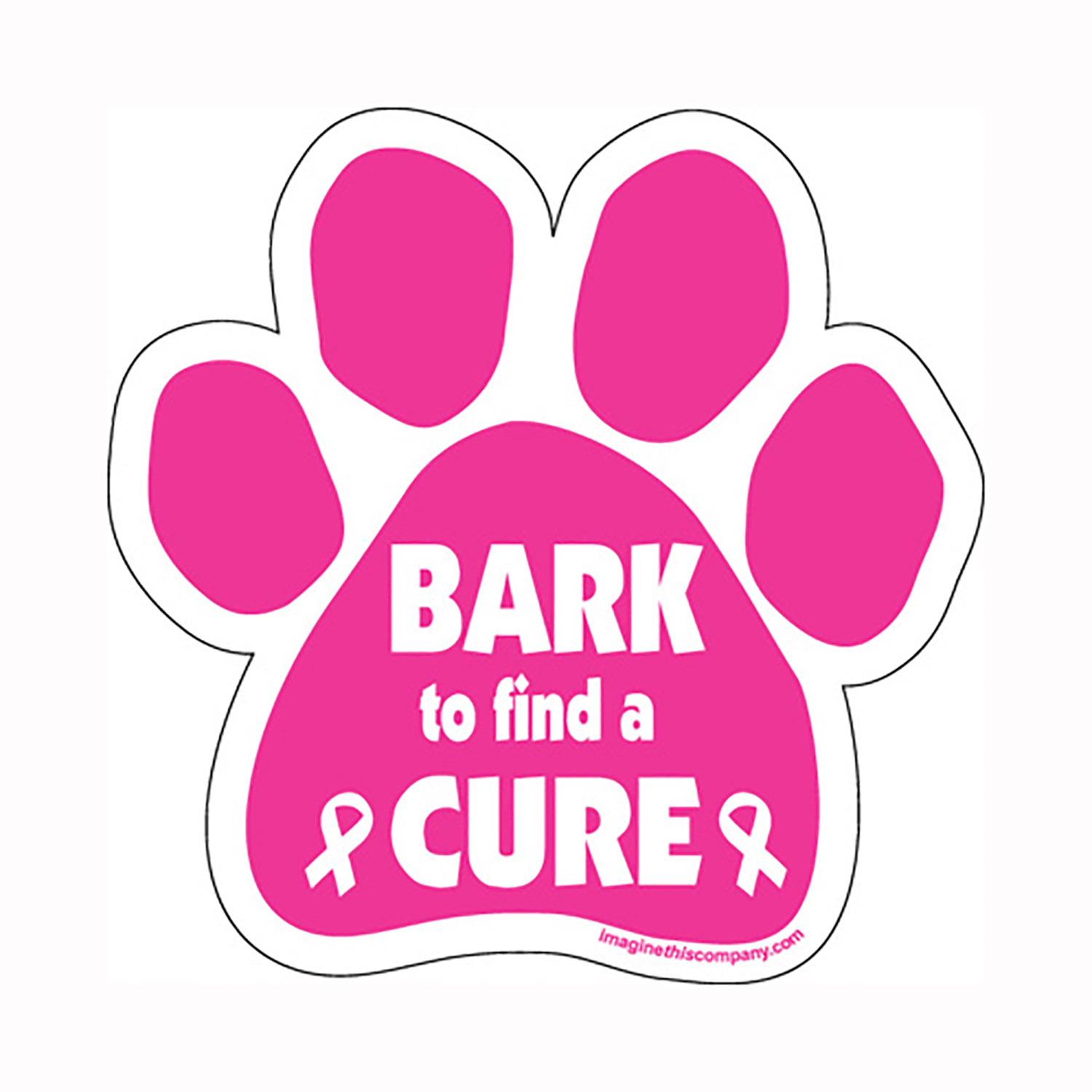 Paw Car Window Decal - Bark to Find a Cure