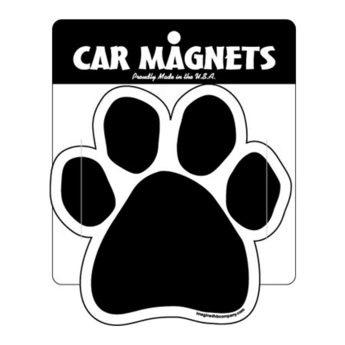 Paw Magnet - Black Solid Pawprint