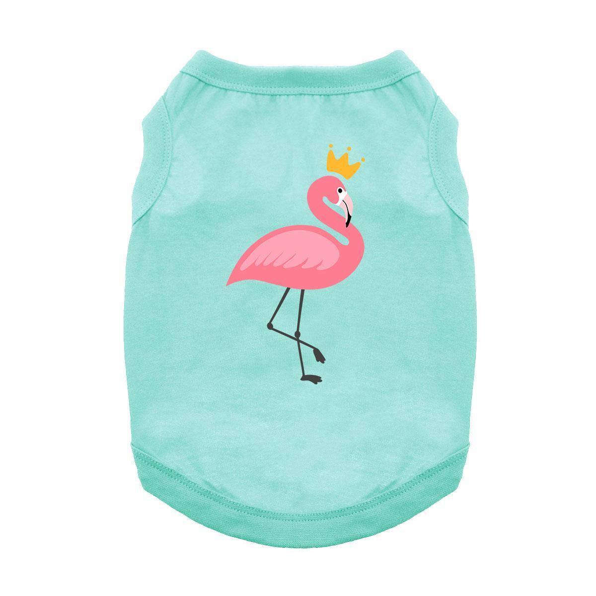 Royal Flamingo Dog Shirt - Teal