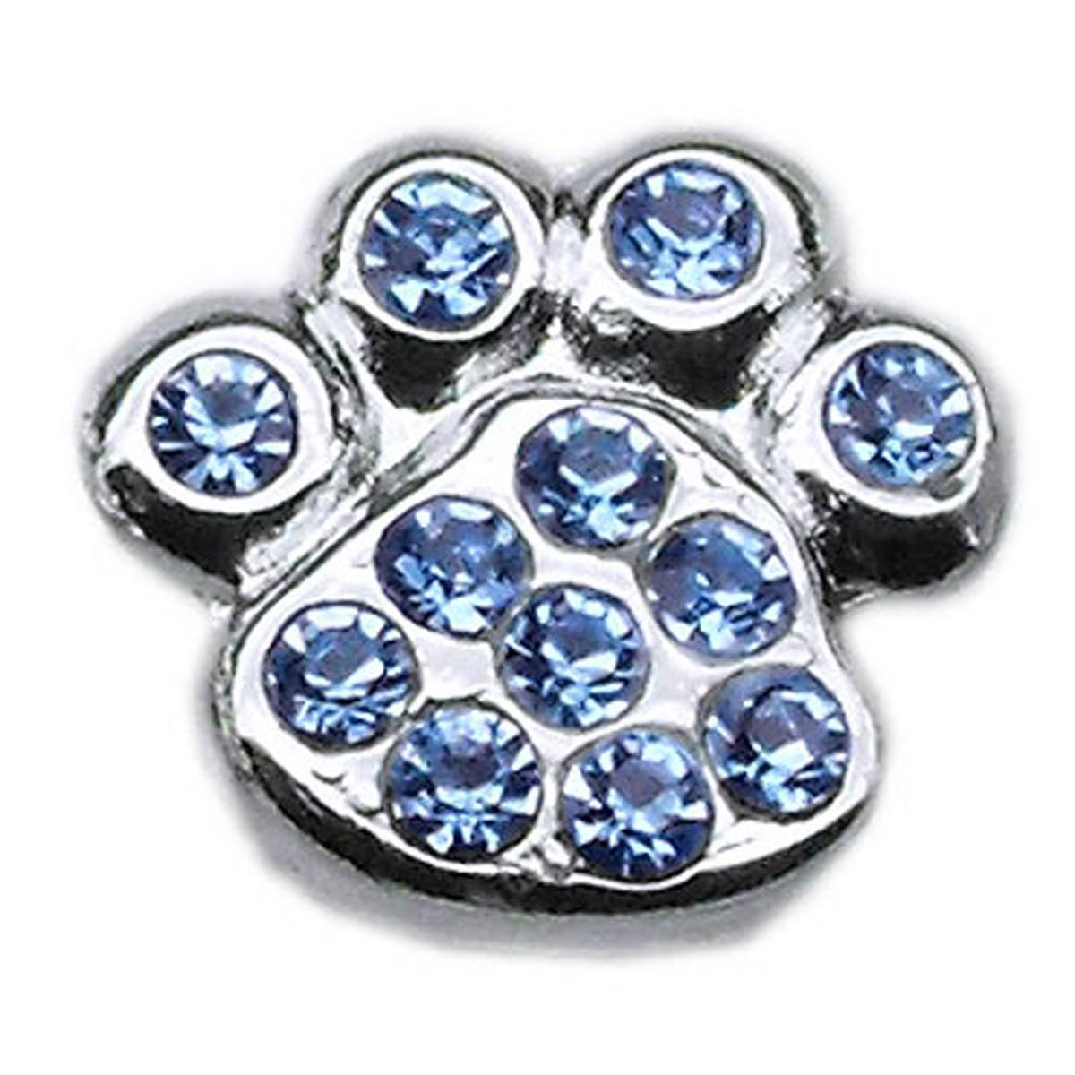 Paw Slider Dog and Cat Collar Charm - Blue