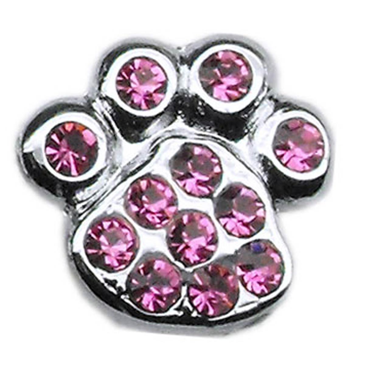 Paw Slider Dog and Cat Collar Charm - Pink