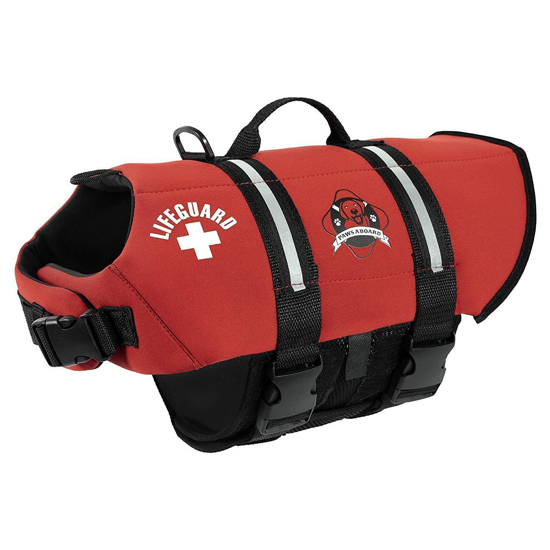 Paws Aboard Premium Red Neoprene Dog Life Vest