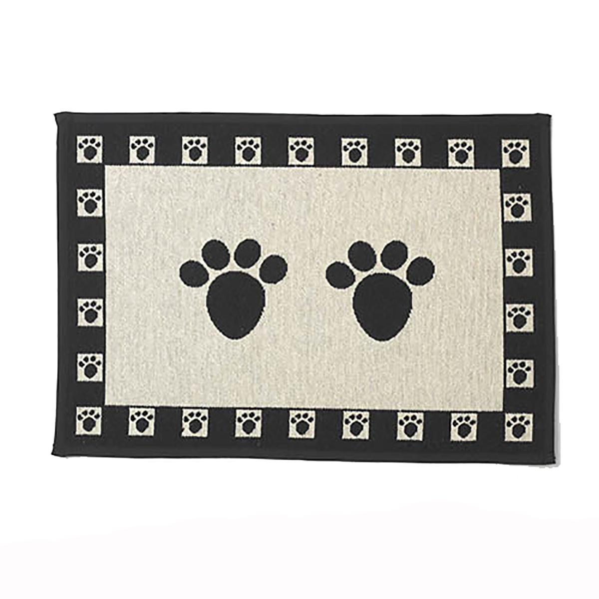 Paws Dog Tapestry Placemat Natural And Blac Baxterboo