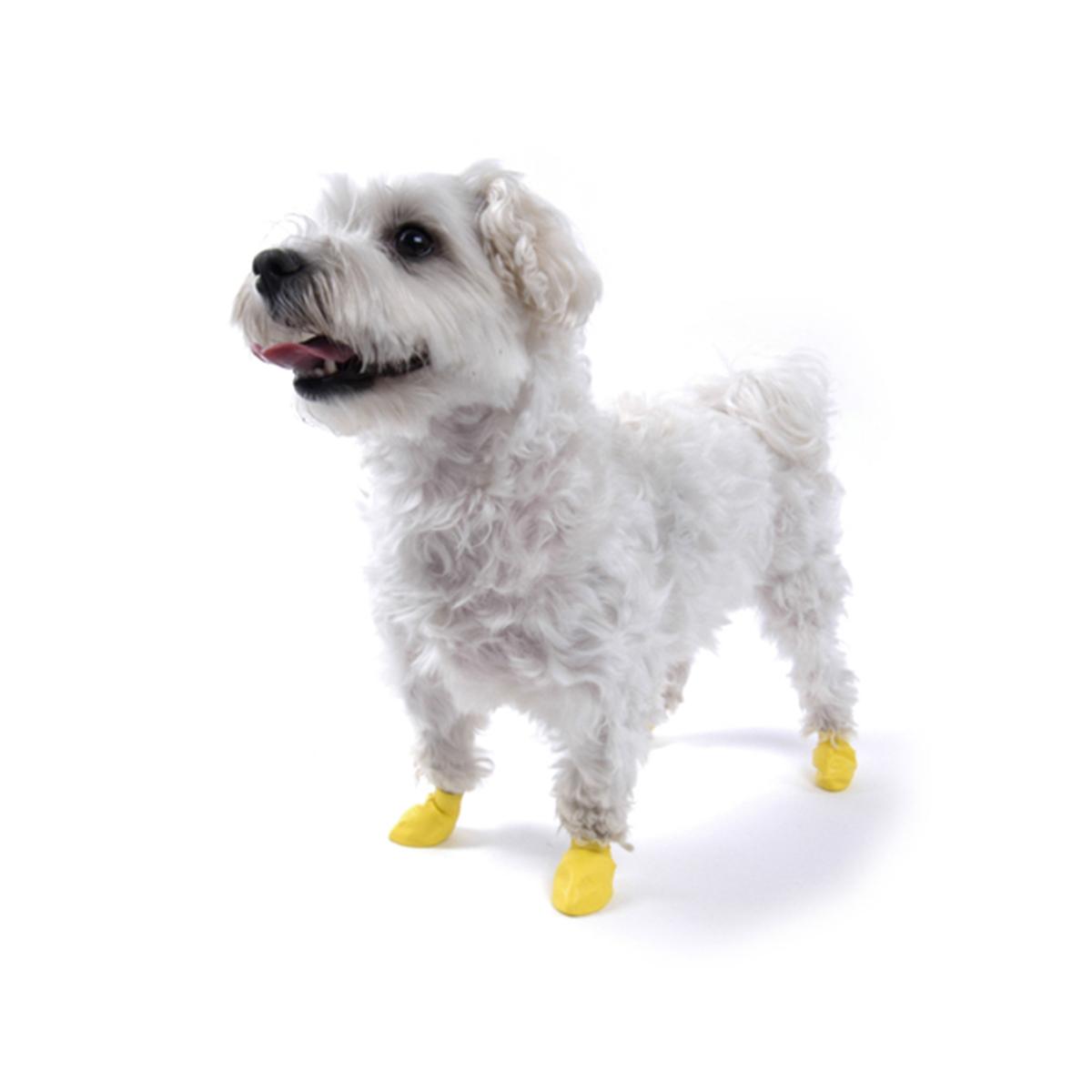 PawZ Disposable Dog Booties 12pk - XX-Small Yellow