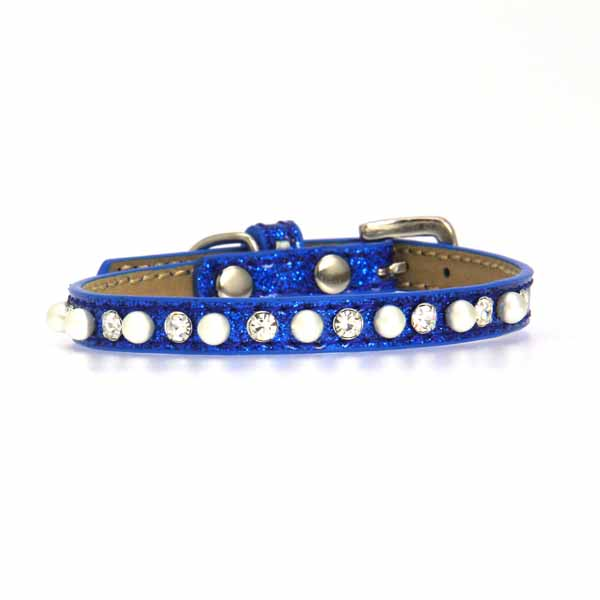 Pearl and Jewel Puppy Ice Cream Collar - Blue